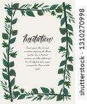vector illustration frame green ... | Shutterstock .eps vector #1310270998