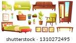living or bedroom object set... | Shutterstock .eps vector #1310272495