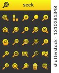 seek icon set. 26 filled seek... | Shutterstock .eps vector #1310281348