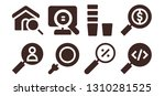 seek icon set. 8 filled seek... | Shutterstock .eps vector #1310281525