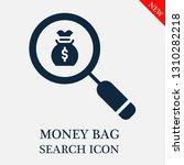 search money bag icon. editable ...