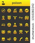poison icon set. 26 filled... | Shutterstock .eps vector #1310282242