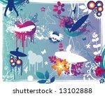 grunge summer design elements | Shutterstock .eps vector #13102888