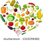 health love heart made of... | Shutterstock .eps vector #1310298382