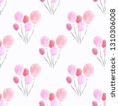 seamless pattern with hearts.... | Shutterstock . vector #1310306008