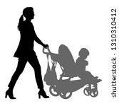 silhouettes walkings mothers... | Shutterstock . vector #1310310412