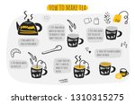 how to make tea infographic ... | Shutterstock .eps vector #1310315275