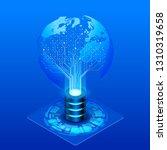 concept of global information... | Shutterstock .eps vector #1310319658
