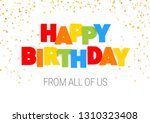 happy birthday inscription in... | Shutterstock .eps vector #1310323408