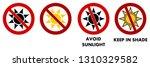 avoid sunlight    keep in shade ...   Shutterstock .eps vector #1310329582