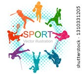 color sport background.... | Shutterstock .eps vector #1310331205