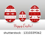 traditional painted easter eggs ... | Shutterstock .eps vector #1310339362