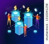 allocation concept. modern 3d... | Shutterstock .eps vector #1310341258