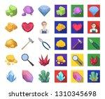 precious minerals cartoon flat...   Shutterstock .eps vector #1310345698