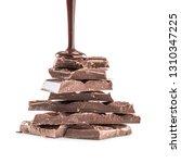 dark or milk chocolate isolated ... | Shutterstock . vector #1310347225