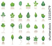 leaf icon | Shutterstock .eps vector #13103479