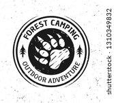 bear footprint vector vintage... | Shutterstock .eps vector #1310349832