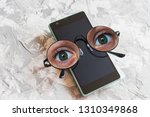 concept of tracking on... | Shutterstock . vector #1310349868