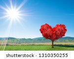 fantasy valentines landscape... | Shutterstock . vector #1310350255