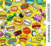 comic speech bubbles seamless... | Shutterstock . vector #1310354155