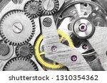 gears of a mechanical watch... | Shutterstock . vector #1310354362
