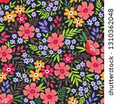trendy seamless vector floral... | Shutterstock .eps vector #1310362048