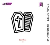 outline coffin icon isolated on ... | Shutterstock .eps vector #1310370478