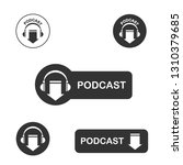 podcast icon  vector for... | Shutterstock .eps vector #1310379685