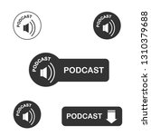 podcast icon  vector for... | Shutterstock .eps vector #1310379688