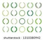 set of green silhouette laurel... | Shutterstock .eps vector #1310380942