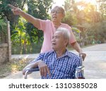 beautiful family senior couple...   Shutterstock . vector #1310385028