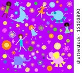 kids background  seamless... | Shutterstock .eps vector #13103890