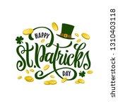 happy saint patrick's day... | Shutterstock .eps vector #1310403118