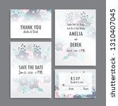 wedding invitation set.... | Shutterstock .eps vector #1310407045