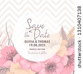 wedding invitation. beautiful... | Shutterstock .eps vector #1310407138