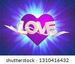 modern 3d letters. the word... | Shutterstock .eps vector #1310416432