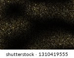 gold halftone texture. luxury... | Shutterstock .eps vector #1310419555