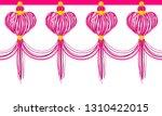 vector seamless border pattern. ... | Shutterstock .eps vector #1310422015