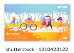 concept of landing page on...   Shutterstock .eps vector #1310423122