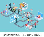 customer journey. buying... | Shutterstock .eps vector #1310424022