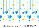 vector seamless border pattern. ... | Shutterstock .eps vector #1310424502