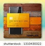 smartphone   credit card banner.... | Shutterstock .eps vector #1310430322