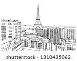 hand drawn ink line sketch... | Shutterstock .eps vector #1310435062