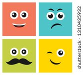 set of four colorful emoticons... | Shutterstock .eps vector #1310435932