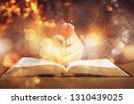 praying bible spirituality... | Shutterstock . vector #1310439025