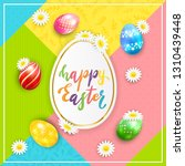 painted easter eggs with... | Shutterstock . vector #1310439448