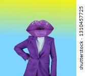 contemporary art collage.... | Shutterstock . vector #1310457725