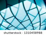 curvilinear glass structure... | Shutterstock . vector #1310458988