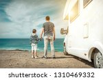 happiness father and son  stay... | Shutterstock . vector #1310469332