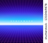 synth wave retro grid... | Shutterstock .eps vector #1310469878